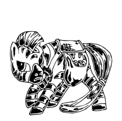 Size: 646x642 | Tagged: safe, artist:smt5015, zebra, black and white, grayscale, mohawk, monochrome, simple background, solo, white background