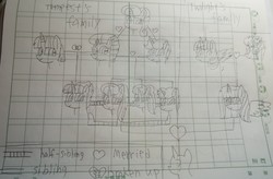 Size: 4573x2992 | Tagged: safe, artist:徐詩珮, fizzlepop berrytwist, flash sentry, glitter drops, spring rain, stygian, tempest shadow, twilight sparkle, oc, oc:betty pop, oc:fire shadow, oc:spring legrt, oc:storm lightning, oc:vesty sparkle, alicorn, pony, unicorn, alicorn oc, bettyvesty, broken horn, family tree, father and daughter, female, flashlight, glittershadow, half-siblings, horn, lesbian, lineart, magical lesbian spawn, male, mare, mother and daughter, next generation, offspring, offspring shipping, parent:flash sentry, parent:glitter drops, parent:spring rain, parent:stygian, parent:tempest shadow, parent:twilight sparkle, parents:flashlight, parents:glittershadow, parents:springdrops, parents:springshadow, parents:tempgian, polyamory, shipping, siblings, sisters, springdrops, springshadow, springshadowdrops, straight, tempgian, traditional art, twilight sparkle (alicorn)
