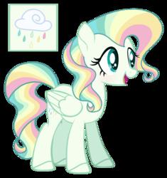 Size: 1280x1361 | Tagged: safe, artist:sweetie-drawz, oc, oc:rainbow rain, pegasus, pony, base used, female, mare, simple background, solo, transparent background