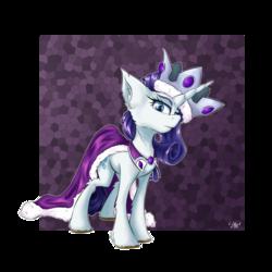 Size: 3000x3000 | Tagged: safe, artist:coldtrail, princess platinum, rarity, pony, unicorn, cape, clothes, crown, female, jewelry, newbie artist training grounds, regalia, solo