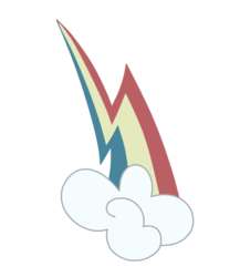 Size: 833x959 | Tagged: clone, cutie mark, cutie mark only, mean rainbow dash, no pony, rainbow dash, safe, simple background, the mean 6, transparent background, upside down cutie mark