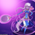 Size: 750x750 | Tagged: safe, artist:lumineko, silver spoon, anthro, apple buruma project, clothes, commission, fantasy class, female, glasses, looking at you, purple background, simple background, smiling, solo, spoon