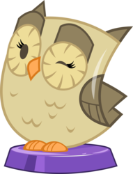 Size: 2419x3158 | Tagged: artist:phucknuckl, high res, male, my little pocket ponies, one eye closed, owl, owlowiscious, part of a series, part of a set, pocket ponies, safe, simple background, solo, transparent background, wink