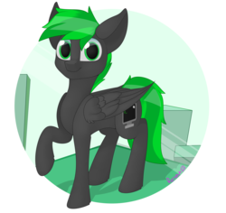 Size: 2964x2796 | Tagged: safe, artist:notmywing, oc, oc:bytewave, pegasus, pony, solo, ych result