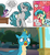 Size: 730x788 | Tagged: alicorn, angry, artist:tonyfleecs, bedroom eyes, changedling, changeling, earth pony, edit, female, gallus, heart eyes, idw, implied gallbar, jealous, mare, obsession, ocellus, pony, safe, sandbar, screencap, spoiler:comic, spoiler:comicfeatsoffriendship01, spoiler:s09e03, swift foot, twilight sparkle, twilight sparkle (alicorn), uprooted, wingding eyes