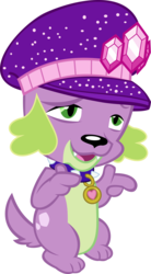 Size: 2555x4639 | Tagged: safe, artist:red4567, spike, spike the regular dog, dog, equestria girls, equestria girls series, lost and pound, spoiler:choose your own ending (season 2), spoiler:eqg series (season 2), lost and pound: spike, male, paws, simple background, spike's dog collar, spike's festival hat, transparent background, vector