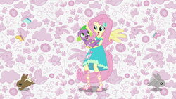 Size: 1920x1080 | Tagged: angel bunny, animal, butterfly, clothes, dog, equestria girls, equestria girls series, feet, female, fluttershy, geode of fauna, magical geodes, male, owl, paws, ponied up, rabbit, safe, sandals, screencap, smiling, spike, spike's dog collar, spike the regular dog, theme song, wings