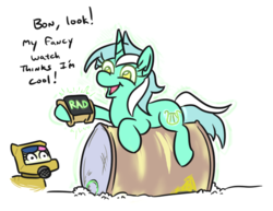 Size: 574x444 | Tagged: artist:jargon scott, barrel, bon bon, clothes, earth pony, fallout, female, glow, glowing eyes, l.u.l.s., lyra heartstrings, mare, nuclear, pipboy, pipbuck, pony, rad, radiation, radiation suit, radioactive, radioactive waste, safe, simple background, suit, sweetie drops, text, this will end in cancer, this will end in death, this will end in mutation, this will end in pain, this will end in radiation poisoning, too dumb to live, unicorn, white background