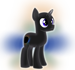 Size: 1302x1221 | Tagged: artist:rainbow eevee, battle for bfdi, battle for dream island, bfb, bfdi, black hole, black hole (bfb), black hole pony, infinity, male, ponified, pony, safe, simple background, solo, transparent background, unicorn