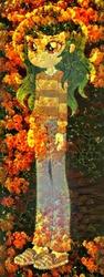 Size: 314x835   Tagged: safe, artist:lifes-remedy, edit, wallflower blush, equestria girls, equestria girls series, forgotten friendship, dreamscope edit, erysimum cheiri, female, flower, pun, solo, visual pun, wallflower, wallflower is a plant