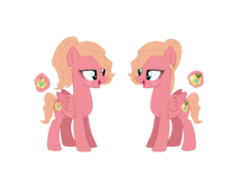 Size: 813x635 | Tagged: artist:nintendoponyaddict, base used, cutie mark, duo, female, oc, oc only, oc:royal pippin, oc:royal russet, offspring, parent:big macintosh, parent:princess celestia, parents:celestimac, pony, safe, siblings, sisters, twins, twin sisters