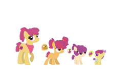 Size: 1234x765 | Tagged: artist:nintendoponyaddict, artist:selenaede, artist:strawberry-spritz, baby, base used, cutie mark, female, offspring, parent:apple bloom, parents:tenderbloom, parent:tender taps, pony, safe, siblings, sisters
