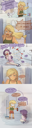 Size: 849x3370 | Tagged: safe, artist:tcn1205, applejack, opalescence, rarity, cockroach, human, insect, equestria girls, ..., comic, cute, drama queen, female, humanized, jackabetes, killer instinct, lesbian, marshmelodrama, misspelling, panic, pony coloring, raribetes, rarijack, screaming, shipping, speech bubble