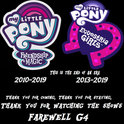 Size: 1694x1698 | Tagged: 2019, end of an era, end of g4, end of ponies, equestria girls, farewell, memorial, rest in peace, safe, series finale, the end, the end is neigh, the end of equestria girls, the ride ends