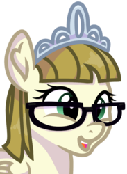 Size: 670x913   Tagged: safe, artist:rainbow eevee, zippoorwhill, pegasus, pony, crown, cute, female, filly, folded wings, glasses, jewelry, open mouth, regalia, simple background, smiling, solo, transparent background, wings, zippoorbetes