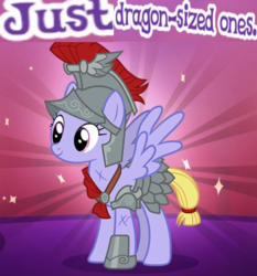 Size: 513x551 | Tagged: safe, pegasus, pony, armor, female, gameloft, meme, wow! glimmer