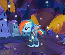 Size: 940x788 | Tagged: safe, rainbow dash, pegasus, pony, the cutie re-mark, alternate hairstyle, alternate timeline, amputee, apocalypse dash, artificial wings, augmented, clothes, crystal empire, crystal war timeline, female, gameloft, mare, mechanical wing, military uniform, prosthetic limb, prosthetic wing, prosthetics, scar, solo, sombra empire, sombraverse, sparkles, torn ear, uniform, wings