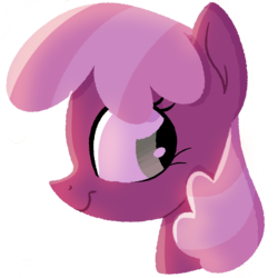 Size: 1280x1280 | Tagged: artist:herfaithfulstudent, bust, cheerilee, earth pony, female, looking back, mare, pony, safe, simple background, smiling, solo, transparent background