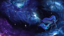 Size: 1920x1080 | Tagged: alicorn, artist:rocket-lawnchair, dream, dream walker luna, eyes closed, female, mare, nebula, pony, princess luna, safe, solo, space, spread wings, stars, wallpaper, wings