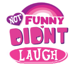 Size: 450x398 | Tagged: safe, edit, editor:logan jones, barely pony related, meme, my little pony logo, not funny didn't laugh, reaction image, simple background, transparent background