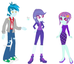 Size: 772x664 | Tagged: artist:1313jaysong1313, equestria girls, female, male, parent:sunny flare, parent:thunderbass, safe, shipping, straight, sunny flare, thunderbass, thunderflare