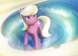Size: 3200x2300 | Tagged: artist:yunnecora, earth pony, female, flower, lily, lily valley, mare, pony, reflection, safe, solo, water