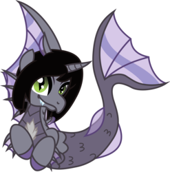 Size: 1083x1094 | Tagged: artist:appledew, artist:lightningbolt, curved horn, derpibooru exclusive, fangs, fins, fish tail, happy, horn, kellin quinn, looking at you, male, safe, scales, simple background, siren, sleeping with sirens, slit eyes, solo, svg, .svg available, transparent background, vector, vector trace