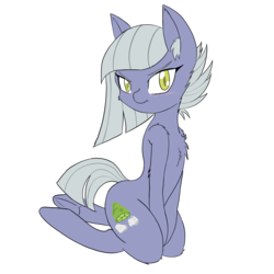 Size: 3000x3000 | Tagged: artist:larrykitty, blushing, chest fluff, cute, ear fluff, earth pony, female, kneeling, limabetes, limestone pie, looking at you, mare, pony, safe, simple background, solo, transparent background