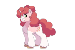 Size: 1280x854 | Tagged: artist:itstechtock, female, mare, oc, oc:cherry blossom, offspring, parent:big macintosh, parents:sugarmac, parent:sugar belle, pony, safe, simple background, solo, transparent background, unicorn