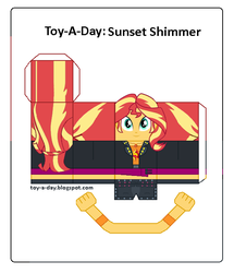 Size: 600x699 | Tagged: safe, artist:grapefruitface1, derpibooru exclusive, sunset shimmer, equestria girls, equestria girls series, arts and crafts, craft, female, geode of empathy, magical geodes, papercraft, printable, toy a day