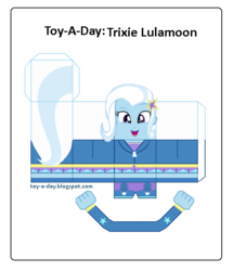 Size: 600x699 | Tagged: safe, artist:grapefruitface1, trixie, equestria girls, arts and crafts, craft, female, papercraft, printable, toy a day