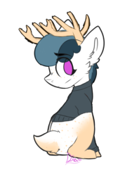 Size: 3000x4000 | Tagged: artist:diantrex, clothes, deer, head turn, male, oc, oc unknown, safe, solo, sweater, trap