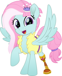 Size: 5590x6850 | Tagged: absurd res, amputee, artist:jhayarr23, clothes, cute, female, fufflebetes, kerfuffle, looking at you, mare, movie accurate, pegasus, pony, prosthetic leg, prosthetic limb, prosthetics, rainbow roadtrip, raised hoof, safe, simple background, smiling, solo, spoiler:rainbow roadtrip, spread wings, transparent background, vector, wings