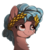 Size: 1148x1280 | Tagged: safe, artist:meow, cozy glow, earth pony, pony, bust, chest fluff, colored pupils, ear fluff, female, laurel wreath, simple background, solo, transparent background