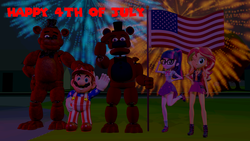 Size: 3840x2160 | Tagged: 3d, 4th of july, american flag, artist:optimussparkle, barely eqg related, crossover, cute, equestria girls, equestria girls series, fireworks, five nights at freddy's, flag, freddy fazbear, geode of empathy, geode of telekinesis, holiday, human, independence day, magical geodes, mario, nintendo, non-mlp oc, non-pony oc, oc, safe, sci-twi, sci-twibetes, scott cawthon, shimmerbetes, source filmmaker, sunset shimmer, super mario bros., twiabetes, twilight sparkle, withered freddy