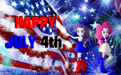Size: 1920x1200 | Tagged: 4th of july, artist:cartoonmasterv3, equestria girls, holiday, pinkie pie, rarity, safe