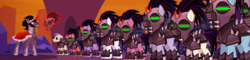 Size: 4492x1080 | Tagged: safe, composite screencap, edit, edited screencap, screencap, ivory, ivory rook, king sombra, crystal pony, pony, unicorn, the cutie re-mark, alternate timeline, armor, army, crystal war timeline, glowing horn, helmet, horn, magic, male, mind control, panorama, sombra empire, sombra soldier, stallion, telekinesis