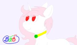 Size: 1222x710 | Tagged: safe, artist:dao, oc, oc:snowiine blurose, pony, unicorn, dao, jewelry, lineless, necklace, solo