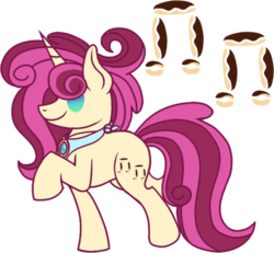 Size: 552x510 | Tagged: safe, artist:musical-medic, oc, oc:creme puff cake, pony, unicorn, female, mare, simple background, solo, transparent background