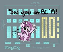 Size: 1024x850 | Tagged: announcement, artist:mulberrytarthorse, bronycon, marketplace, mulberry tart, my little pony, oc, oc:mulberry tart, oc only, pony, safe, table, vendor