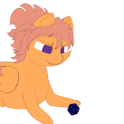 Size: 1000x1000 | Tagged: safe, artist:shoophoerse, oc, oc:shoop, pegasus, pony, atg 2019, d20, dice, newbie artist training grounds, solo