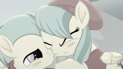 Size: 1500x844 | Tagged: aggressive, barley barrel, barrelcest, barrel twins, beanie, bedroom eyes, blushing, bonding, bonding time, brother, brother and sister, closed eye, clothes, cloud, colt, discovery family logo, edit, edited screencap, family, female, filly, foal, freckles, grabbing, hat, hoodie, incest, kiss edit, kissing, logo, love, male, nostrils, pegasus, pickle barrel, pony, rainbow roadtrip, safe, screencap, shipping, shirt, sibling bonding, sibling love, sibling rivalry, siblings, sister, sky, spoiler:rainbow roadtrip, sweater, text, twincest, twins, wall of tags, wings