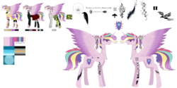Size: 9921x4960 | Tagged: absurd res, alicorn, armor, artist:moonlight0shadow0, boots, camouflage, choker, clothes, dog tags, ear piercing, earring, female, helmet, hoodie, icey-verse, jacket, jewelry, leather jacket, mare, multicolored hair, offspring, pants, parent:princess cadance, parent:shining armor, parents:shiningcadance, piercing, plaid skirt, pleated skirt, pony, ponytail, princess skyla, reference sheet, safe, scar, shirt, shoes, simple background, skirt, socks, solo, spiked choker, striped socks, tattoo, transparent background, t-shirt, wing piercing
