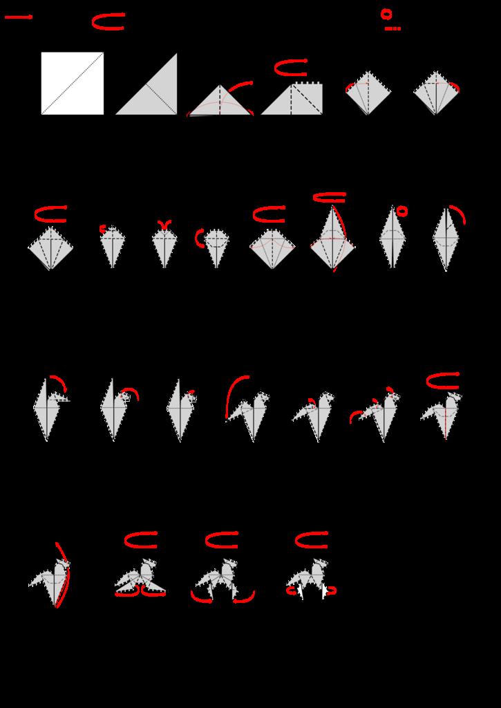 Origami Human Instructions (Good Galleries) | Origami human ... | 1024x725