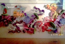 Size: 1204x828 | Tagged: safe, applejack, fluttershy, pinkie pie, princess luna, rainbow dash, rarity, twilight sparkle, alicorn, pony, figure, mane six, photo, twilight sparkle (alicorn)