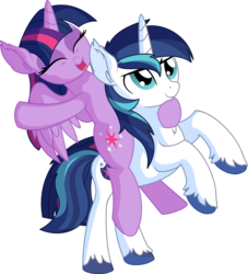 Size: 6801x7489 | Tagged: safe, artist:cyanlightning, shining armor, twilight sparkle, alicorn, pony, unicorn, .svg available, absurd resolution, brother and sister, brotherly love, cute, duo, ear fluff, equestria's best big brother, eyes closed, female, male, mare, open mouth, ponies riding ponies, rearing, riding, sibling, sibling love, siblings, simple background, smiling, sparkle siblings, spread wings, stallion, standing, transparent background, twiabetes, twilight riding shining armor, twilight sparkle (alicorn), unshorn fetlocks, vector, wings