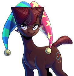 Size: 1242x1270 | Tagged: safe, artist:fensu-san, oc, earth pony, pony, hat, jester hat, solo