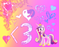 Size: 932x742 | Tagged: safe, artist:morningstar-1337, princess cadance, pony, princess of love, solo