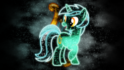 Size: 1920x1080 | Tagged: artist:morningstar-1337, cutie mark, lyra heartstrings, neon, safe, solo, space, vector, wallpaper