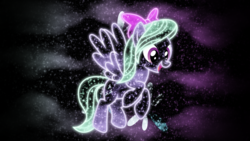 Size: 1920x1080 | Tagged: artist:morningstar-1337, cutie mark, flitter, neon, safe, solo, space, vector, wallpaper